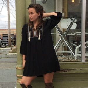 Article Embroidered Boho Dress